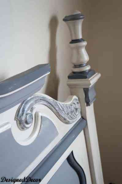 Headboard Makeover with Shabby Paints