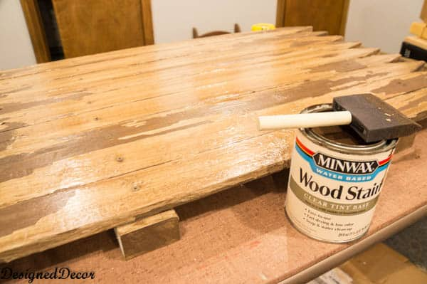Using Minwax stain on an old picket fence