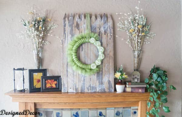Using an old Picket Fence for Spring Decorating