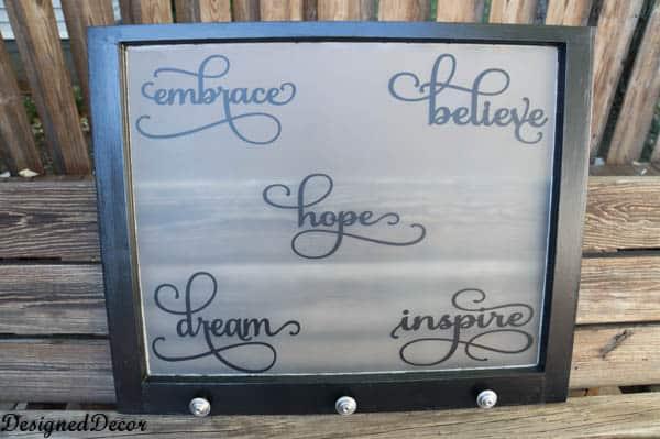inspirational repurposed window-