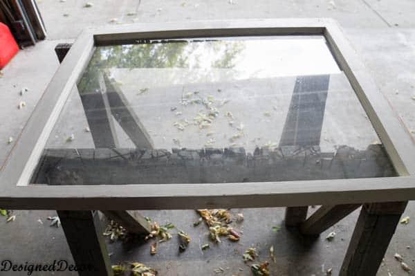 inspirational repurposed window - before