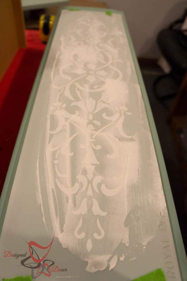 Repurposed Drawer Fronts - Royal Design Stencils-5 apply embossing medium evenly