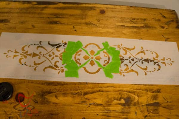 Repurposed Drawer Fronts - Royal Design Stencils- using only a section of the stencil