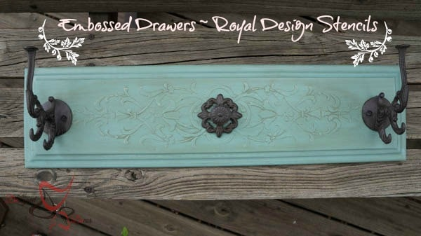 Repurposed Drawer Fronts - Royal Design Stencils-
