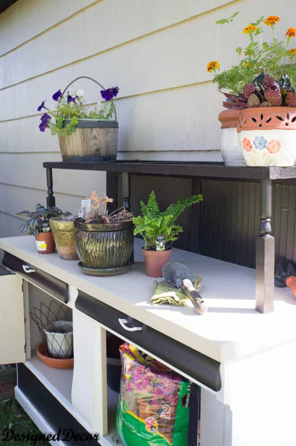 Repurposed Potting Bench-