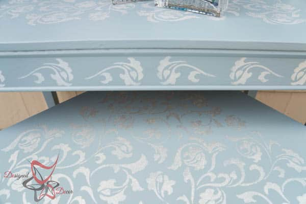 Stenciled Scroll Accent Tables