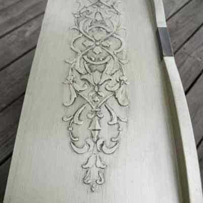 Wood Icing ~ How to make a dresser look like Wood Carving!