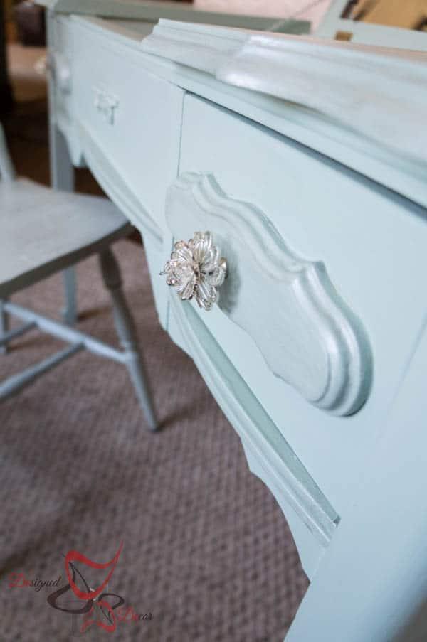 Stenciled Vanity - Tissue Paper Chair-14