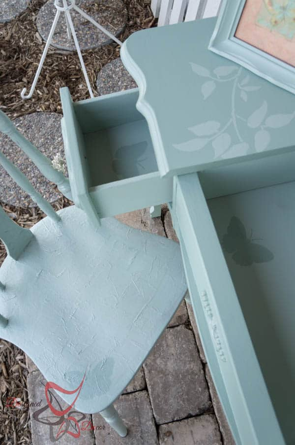 Stenciled Vanity - Tissue Paper Chair-