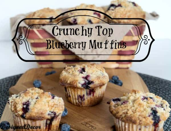 Crunchy Top Blueberry Muffins- Crumb Topping Muffins