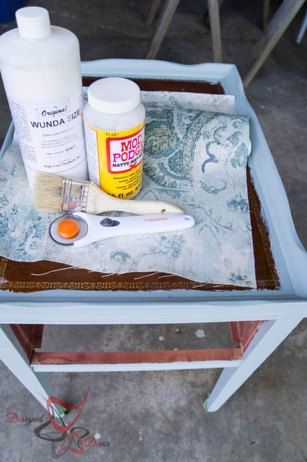 Supplies needed to transform leather top tables