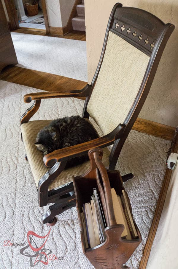 House Tour ~ Living Room- sleeping kitty
