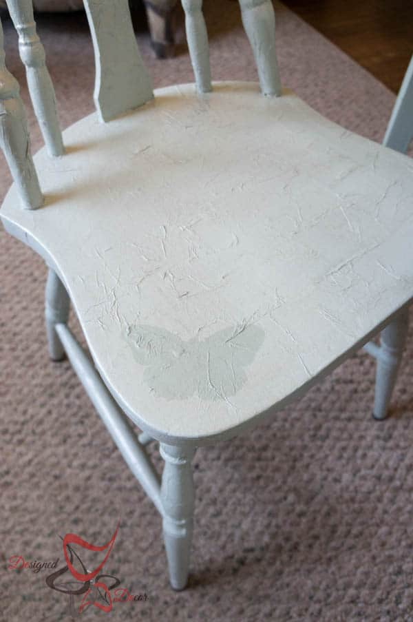 Tissue Paper Decoupage Chair