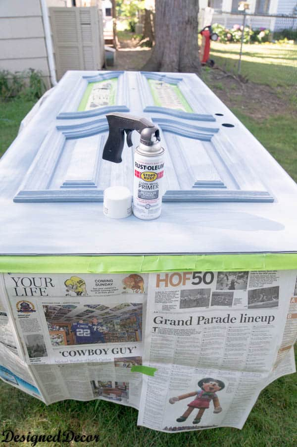 spray paint a front door