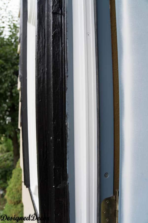 Trim details of front door