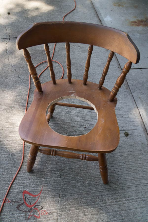 Chair Plant Holders- spray painting projects