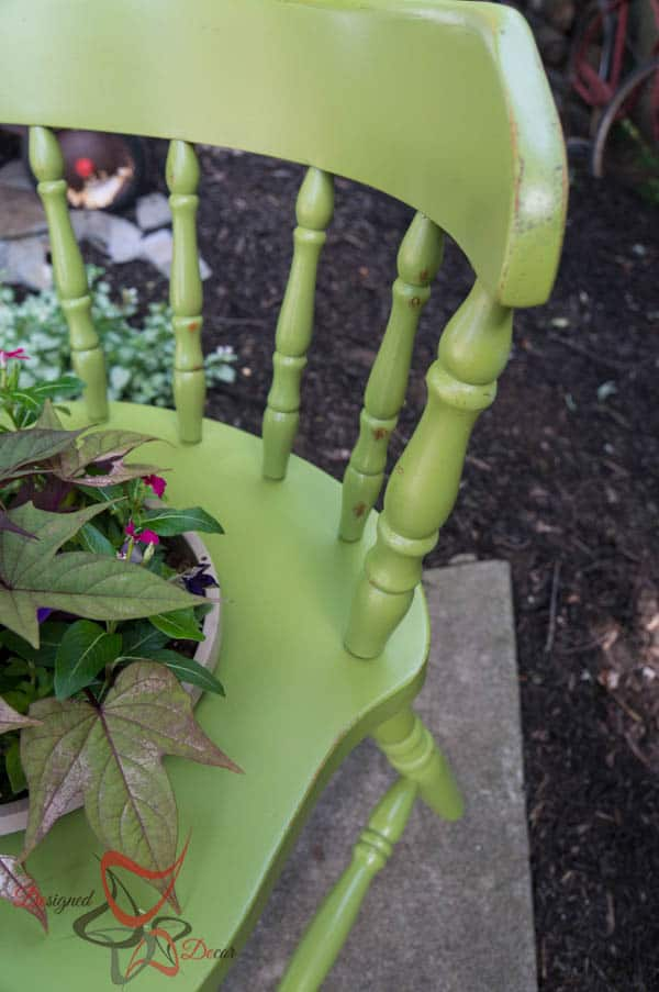 Wood Chair Plant Holders-