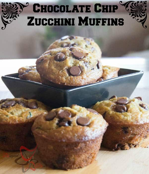 Chocolate Chip Zucchini Muffins-