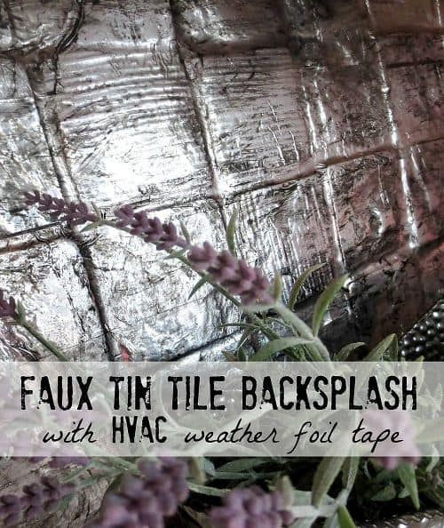 Faux Tin Tile Backsplash by Down to Earth Style