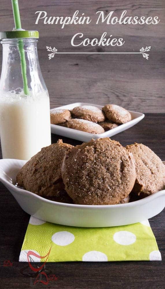 Pumpkin Molasses Cookies-
