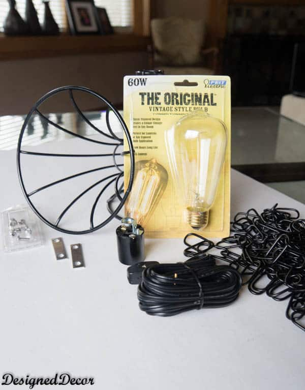 Supplies for a Wire Pendant Light