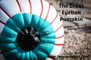 "The Great Eyeball Pumpkin from ""The CSI Project""!"
