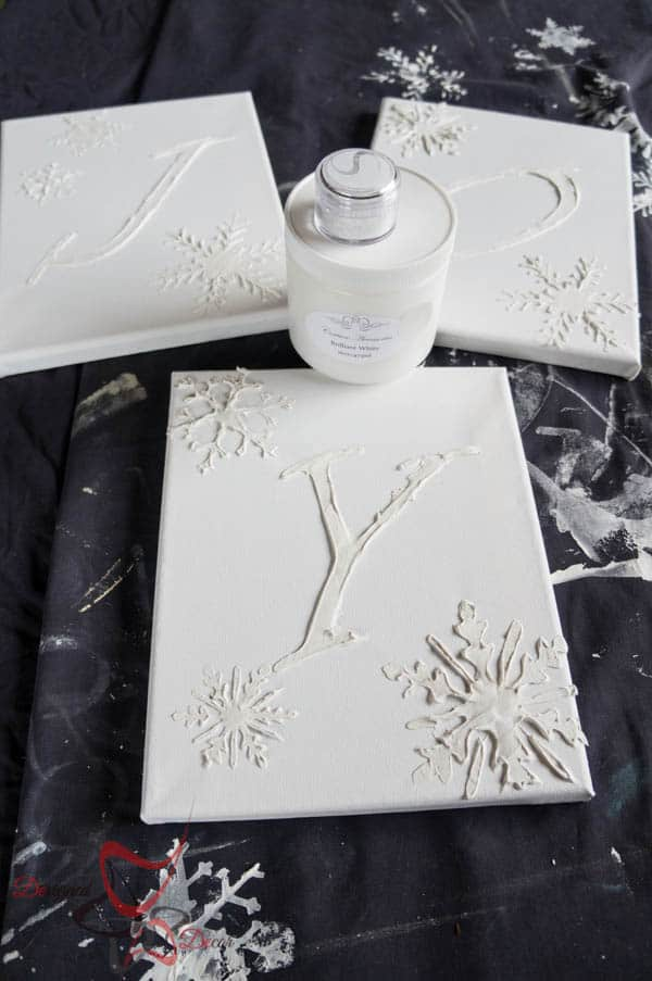 Embossing on canvas