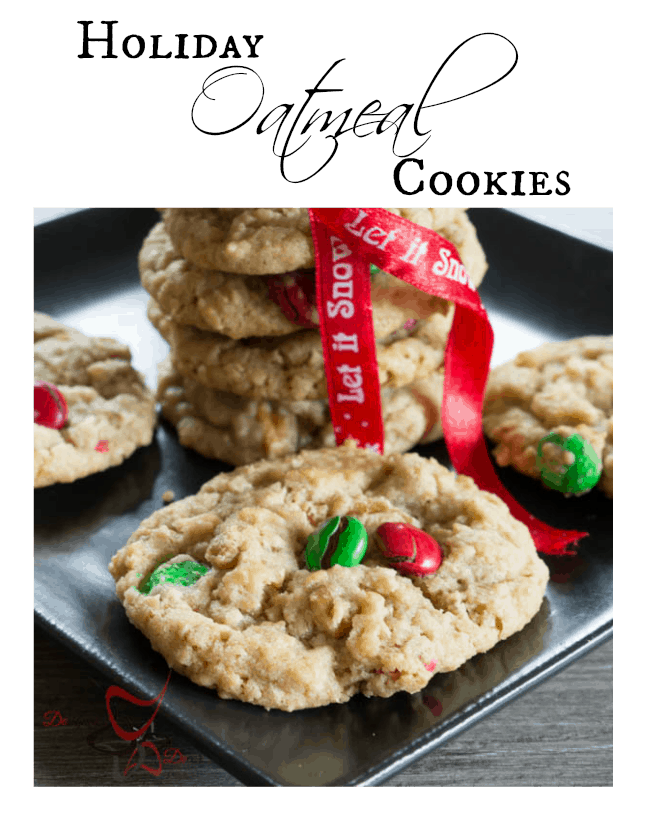 Holiday Oatmeal Cookies