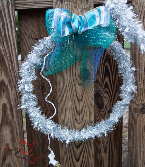 Outdoor Christmas Decor-Hanging Light Rings-