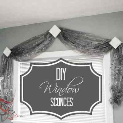 DIY Drapery Window Sconces!