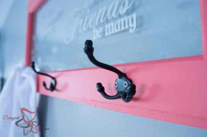 Repurposed Window Coat Hook-