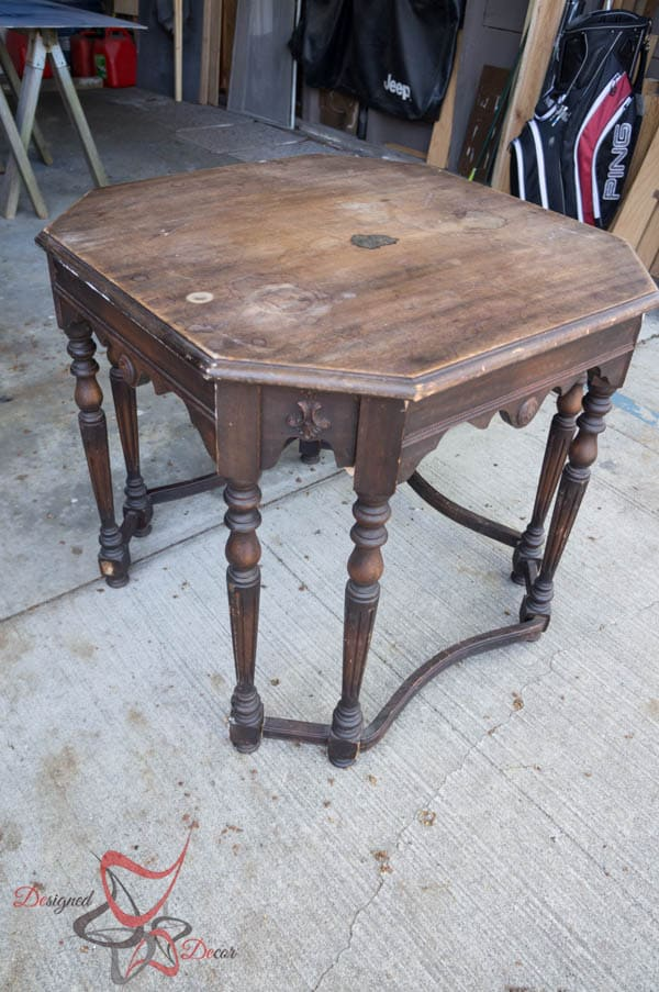 Antique Hexagon Table