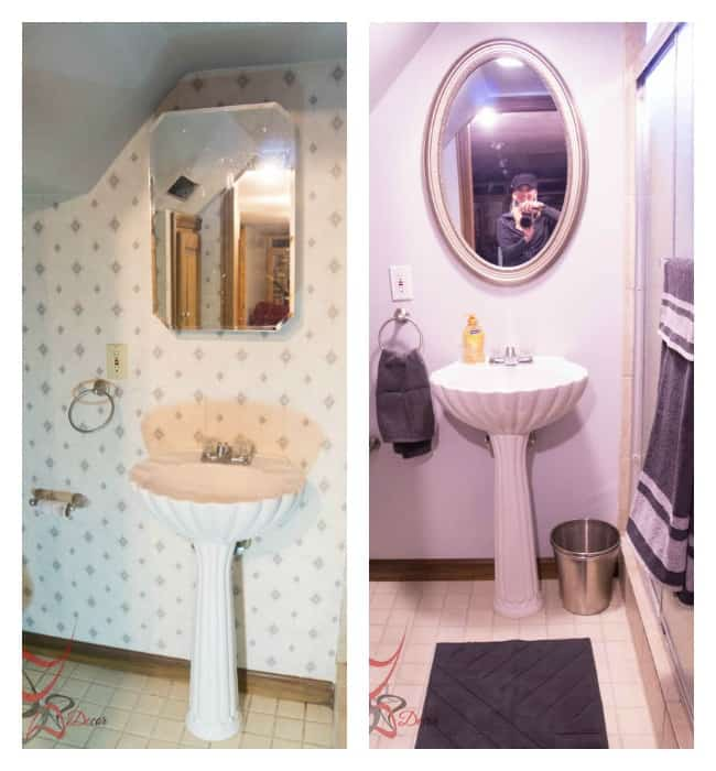 Basement Bathroom before after