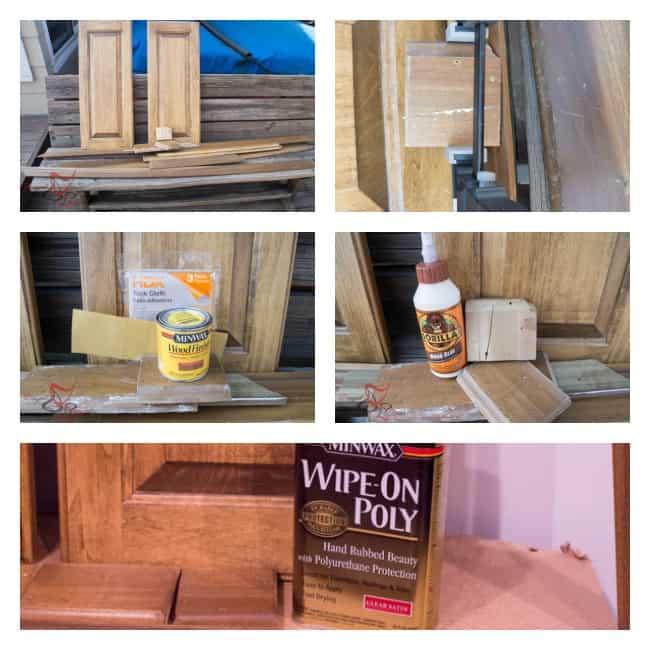 Basement Bathroom wood trim