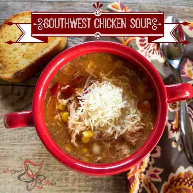 Crockpot Southwest Chicken Soup-