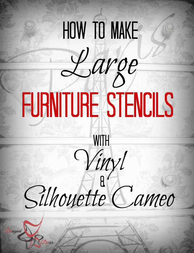 How to make large furniture stencils with Silhouette Cameo