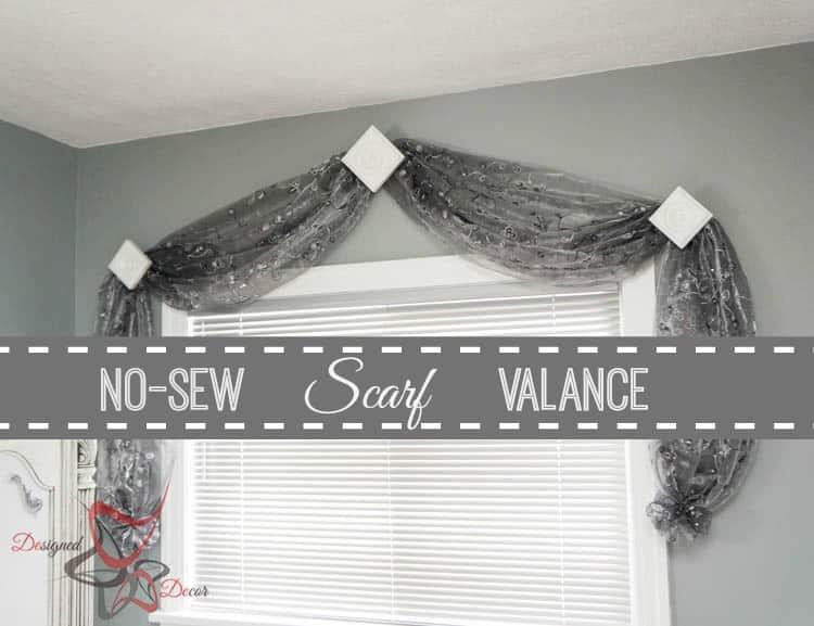 No Sew Scarf Valance