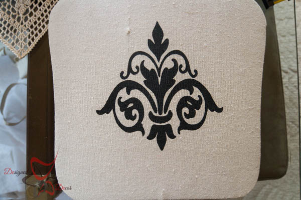 How to Stencil Fabric-French Provincial- Fleur de lis