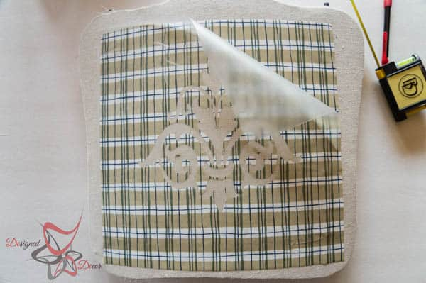 How to Stencil Fabric-Using Contact Paper