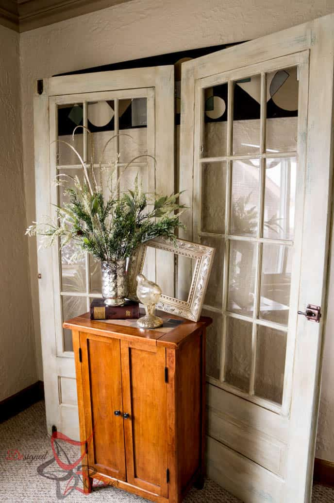 Painted Old French Doors-Pixie Dust Paint Company-