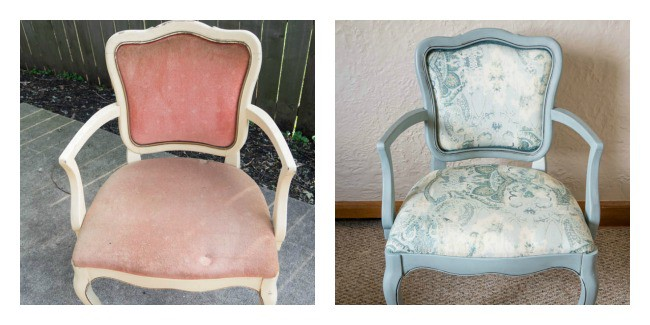 before and after dining room chairs