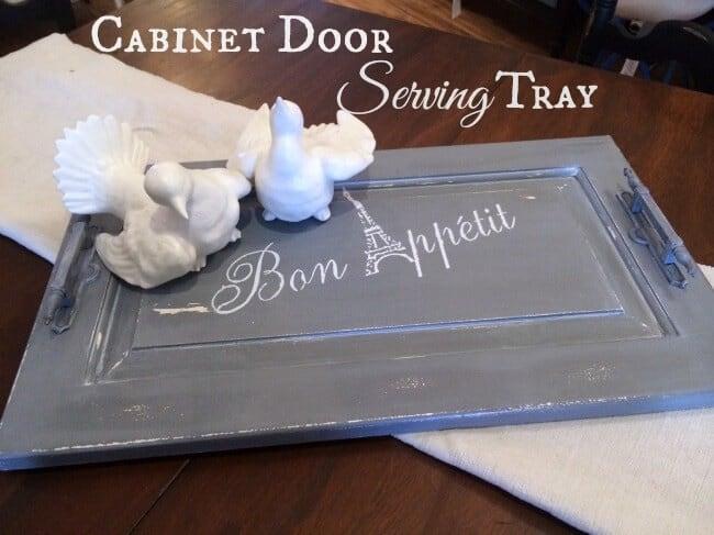 Cabinet Door Serving Tray