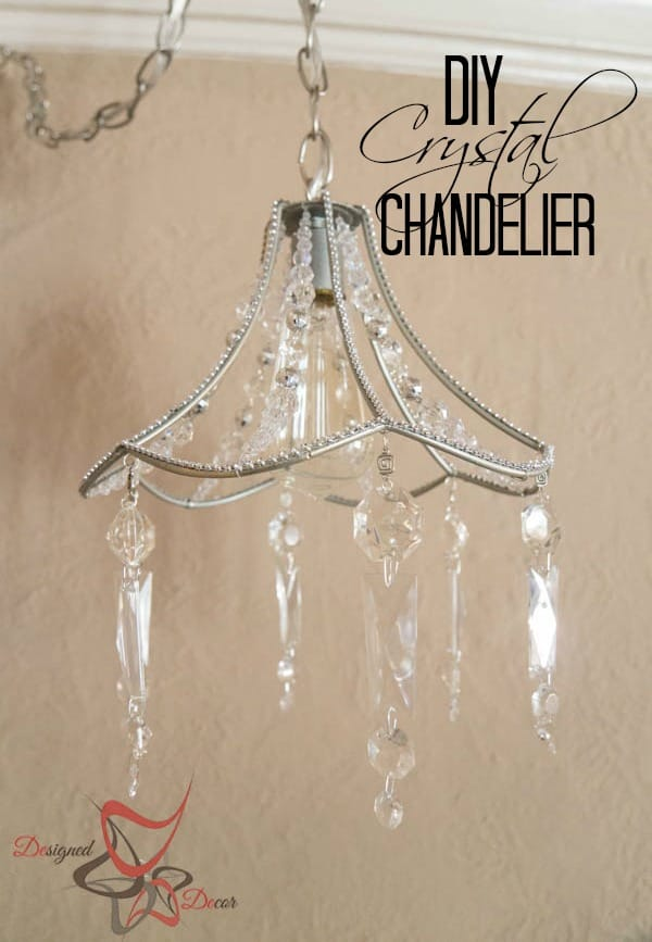 DIY Crystal Chandelier-pinnable