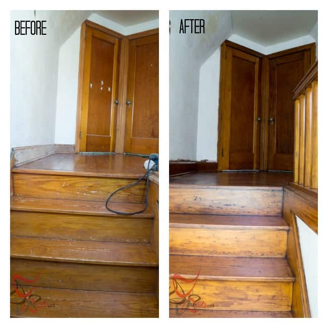 Before-After- Using Gel Stain