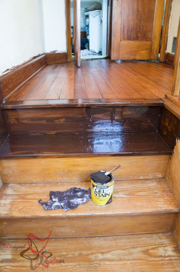 Gel Stain- Refinish Stairway-13