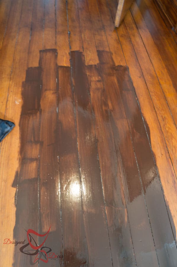 Using gel stain over existing stained wood designed decor for Painting over vinyl floor