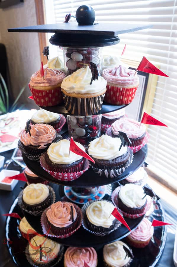 Graduation Party Planning- DIY-CupCake Stand-Table Decorations-Photo Booth-20