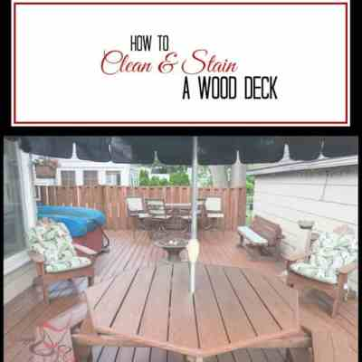 How to Clean and Stain a Wood Deck!