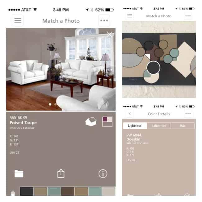 Sherwin Williams- ColorSnap-app- screen shots