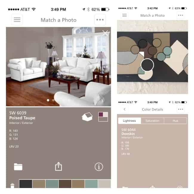 Sherwin Williams- ColorSnap-app- screen shots